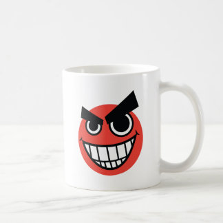 evilface classic white coffee mug
