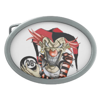 EVILLA CLOWN 08 OVAL BELT BUCKLE