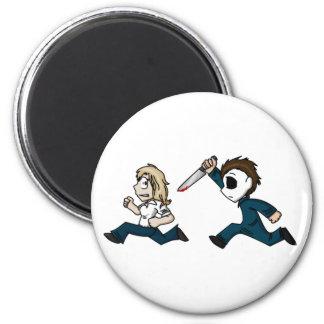Evilontwolegs caricatures refrigerator magnets
