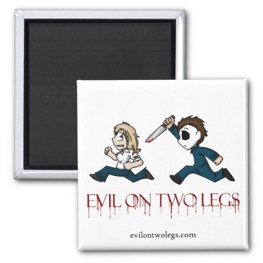 evilontwolegs.com logo magnet