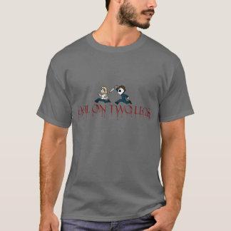 evilontwolegs.com logo shirt