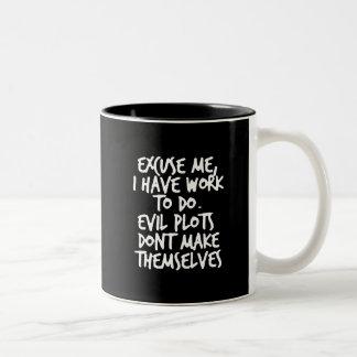 evilplots taza de café de dos colores