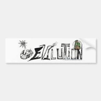 Evilution Blk/Wt Bumper Sticker