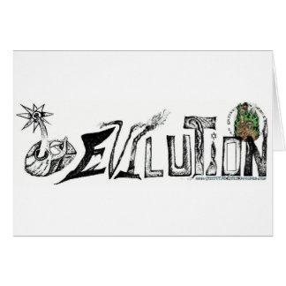 Evilution Blk/Wt Tarjeta De Felicitación