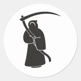 Evilution Reaper Classic Round Sticker