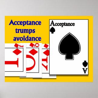 Evitación de los triunfos de la aceptación póster