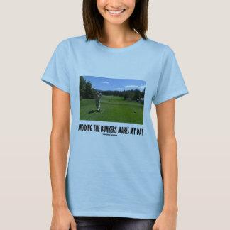 Evitar las arcones hace mi día (el golf) playera