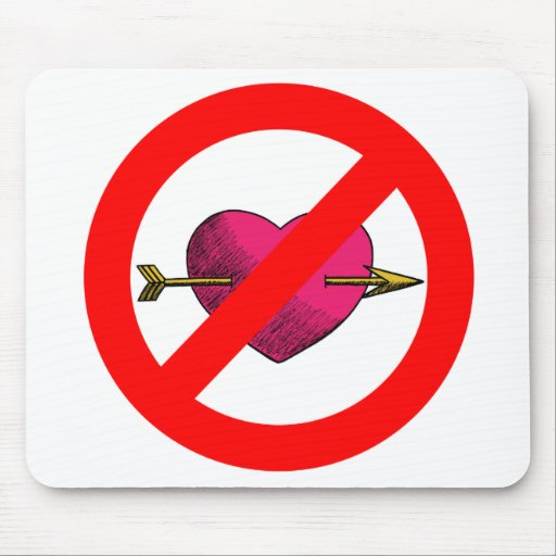 Evite el V-Día Alfombrillas De Ratones