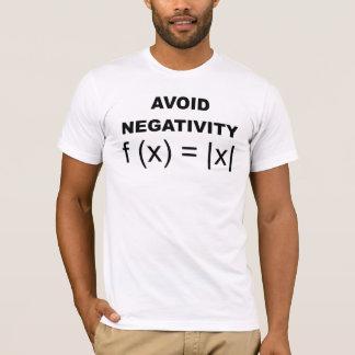 Evite la camiseta divertida de la negatividad