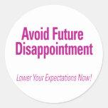 Evite la decepción futura - baje su Expectati Etiqueta