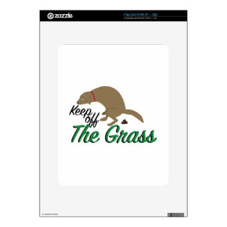Evite la hierba iPad skins