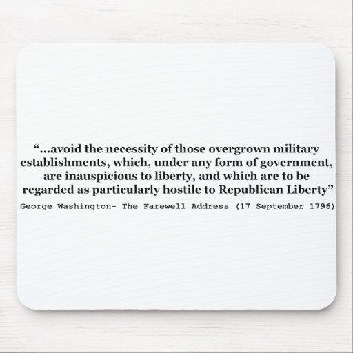 Evite las clases militares Overgrown Washington Tapetes De Raton