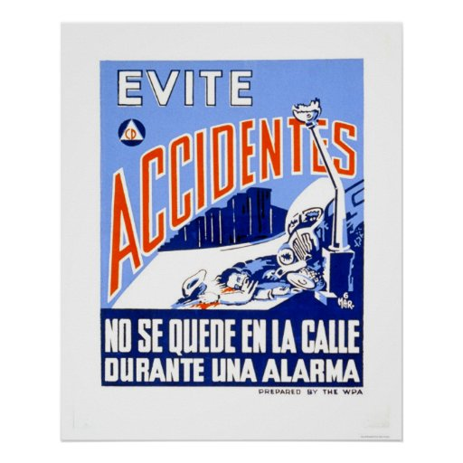 Evite los accidentes WPA 1942 Posters