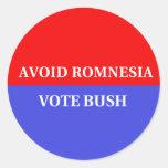 Evite Romnesia - pegatina divertido de Bush del