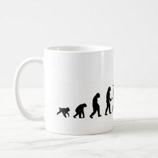EVO02 evolution cycling cyclist silhouette Coffee Mug