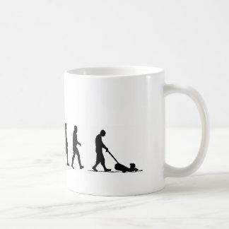 EVO07 evolution of man lawnmower suburbia Classic White Coffee Mug