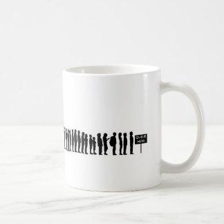 EVO09 evolution man modernity queue here Coffee Mug
