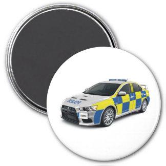 evo del lancero de mitsubishi de la policía imán redondo 7 cm