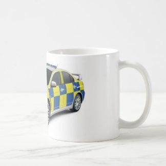 evo del lancero de mitsubishi de la policía tazas de café