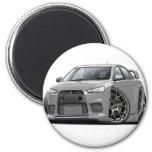 Evo Silver Car Magnets