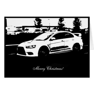 EVO X Rolling Shot Car Themed Christmas Card