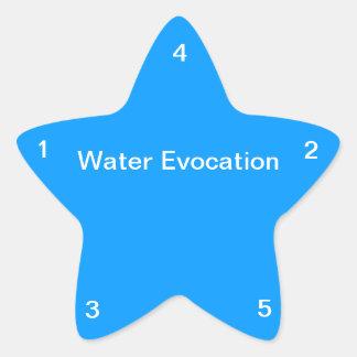 Evocación del agua pegatina en forma de estrella