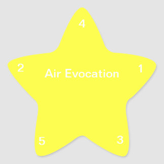 Evocación del aire pegatina en forma de estrella