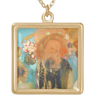 Evocation of Roussel, c. 1912 (oil on canvas) Gold Plated Necklace