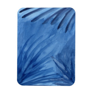 Evocative Abstract Blue Rays Watercolor Painting Magnet