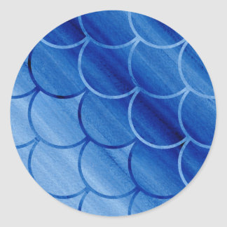 Evocative Painted Blue Scale Pattern Stickers
