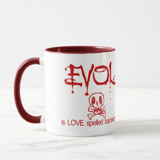 Evol Is Love Spelled Backwards Mug