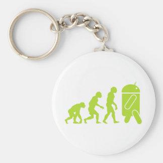 Evolución androide llavero redondo tipo pin