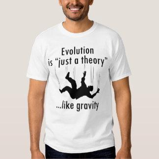 Evolución apenas una teoría, la camiseta de los poleras