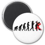 Evolución - baile imán redondo 5 cm