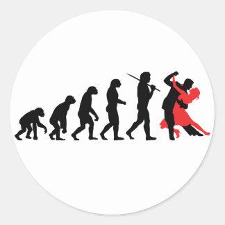 Evolución - baile etiquetas redondas