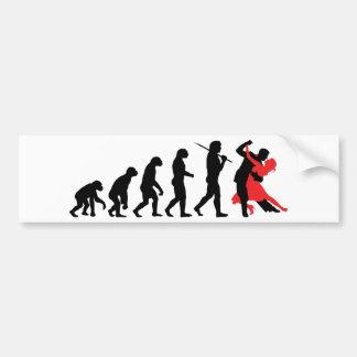 Evolución - baile pegatina de parachoque