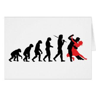 Evolución - baile tarjeta de felicitación
