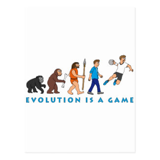 Evolución balonmano cómic Style Tarjeta Postal