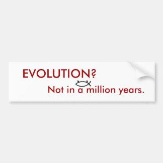 ¿EVOLUCIÓN? PEGATINA DE PARACHOQUE