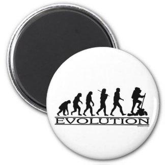Evolución - caminando imán redondo 5 cm