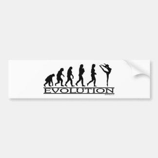 Evolución - danza pegatina para auto