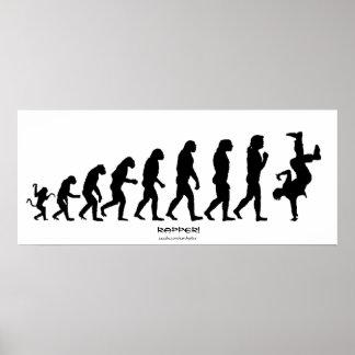 """Evolución darvinista del poster del arte del """"GOLP"""