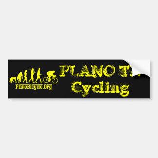 Evolución de ciclo del jersey amarillo amarillo de pegatina para auto