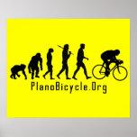 Evolución de completar un ciclo el logotipo limpio póster