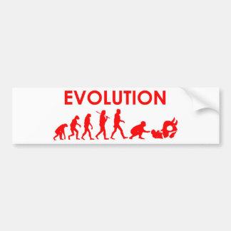 Evolución de Jiu Jitsu Pegatina De Parachoque
