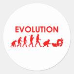 Evolución de Jiu Jitsu Pegatina