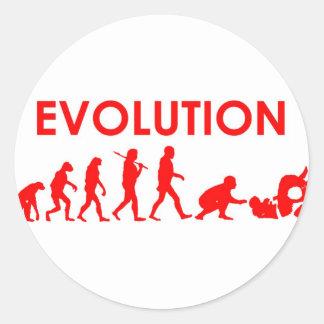 Evolución de Jiu Jitsu Pegatina Redonda