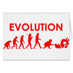 Evolución de Jiu Jitsu Tarjeta De Felicitación