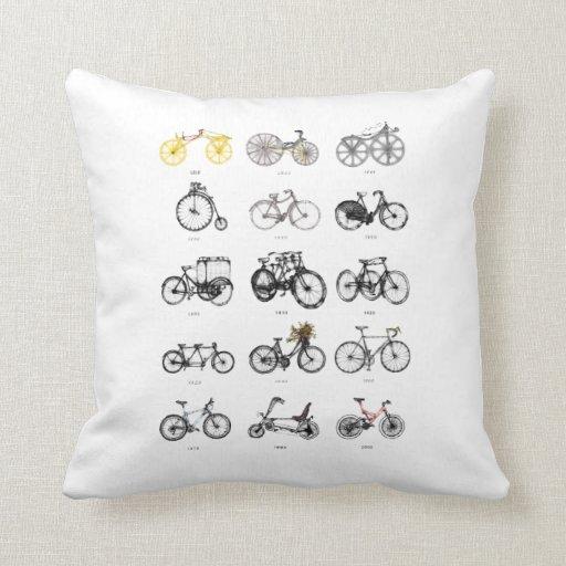 evolución de la almohada de la bicicleta