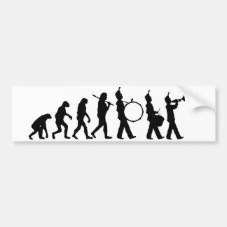 Evolución de la banda pegatina para auto